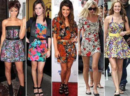 Vestidos com estampas florais são tendença