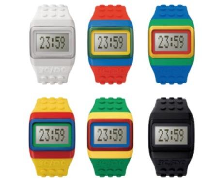 Relógios personalizados da Lego