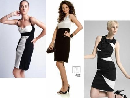 Combinar branco e preto no vestuário