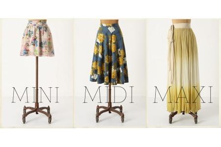 Dicas da moda maxi, midi e mini